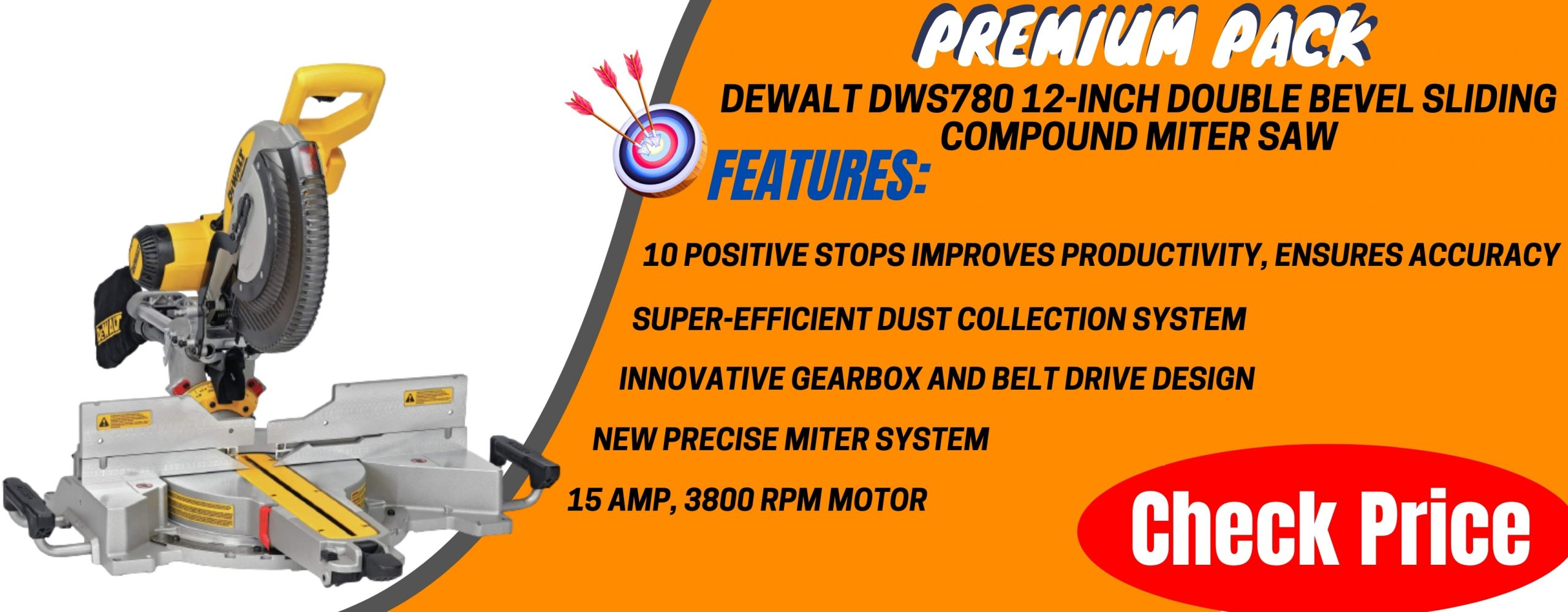 DEWALT DWS780 12-Inch Double Bevel Sliding Compound Miter Saw