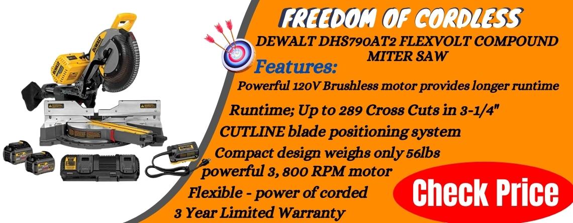 Dewalt DHS790AT2 Flexvolt Sliding Compound Miter Saw Reviews