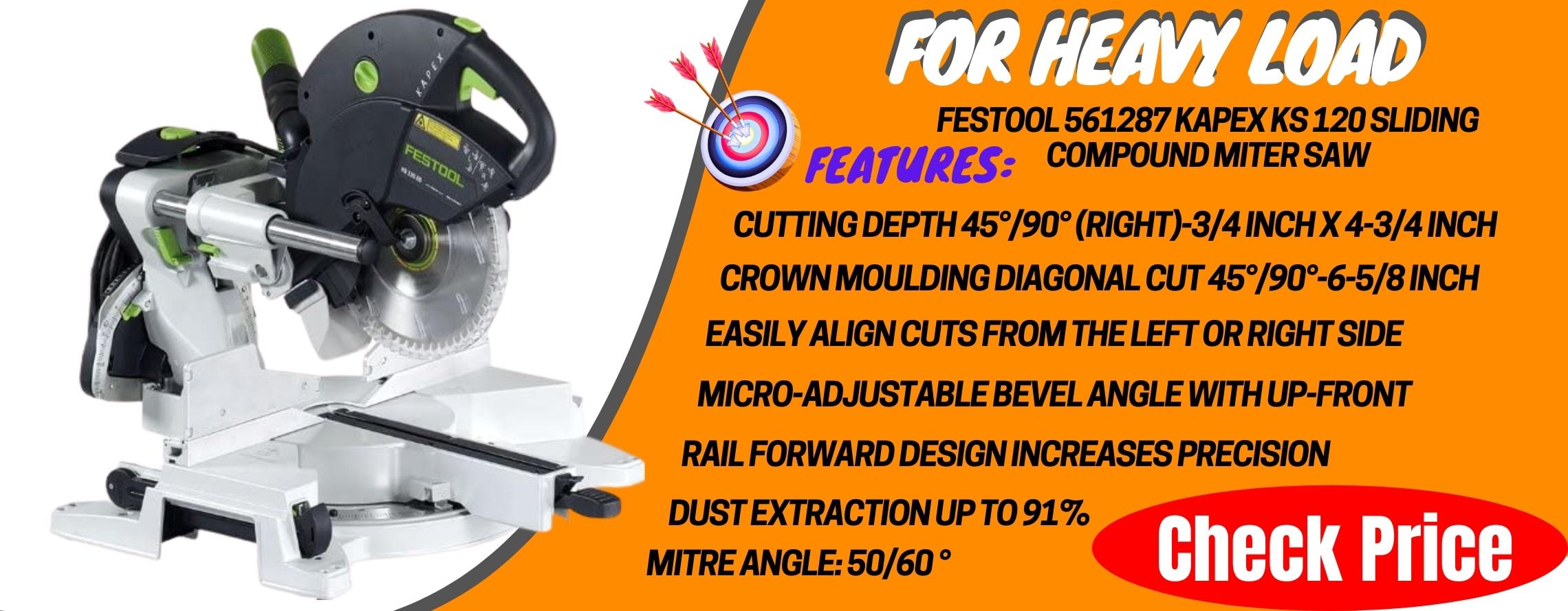 Festool 561287 Kapex KS 120 Sliding Compound Miter Saw