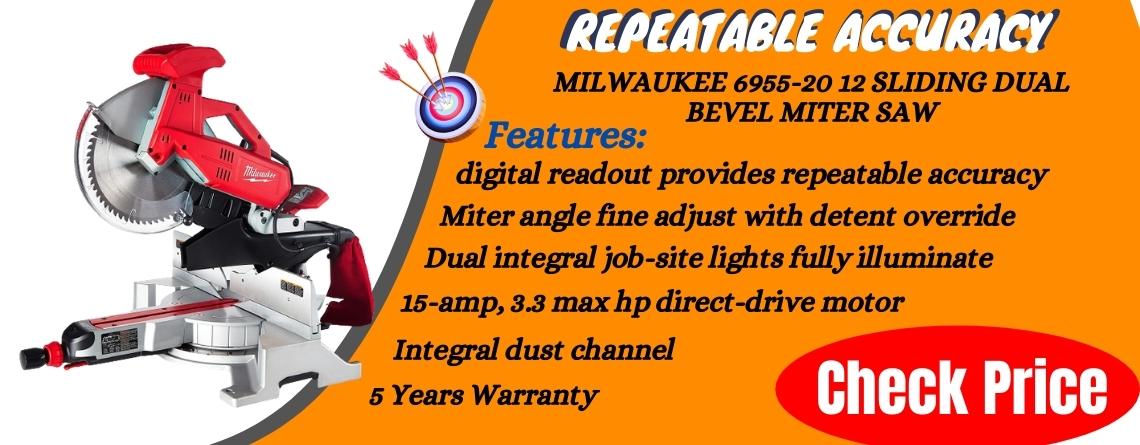 Milwaukee 6955-20 12 Sliding Dual Bevel Miter Saw