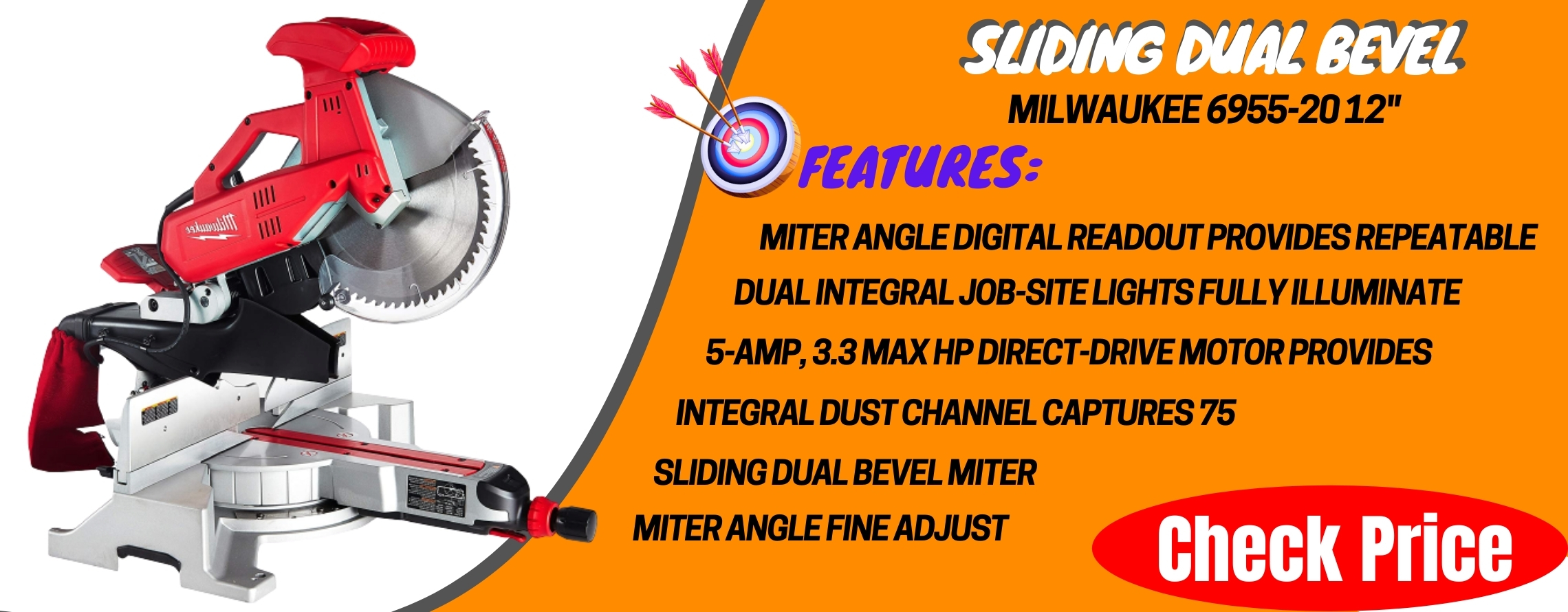 Milwaukee 6955-20 12_ Sliding Dual Bevel Miter Saw