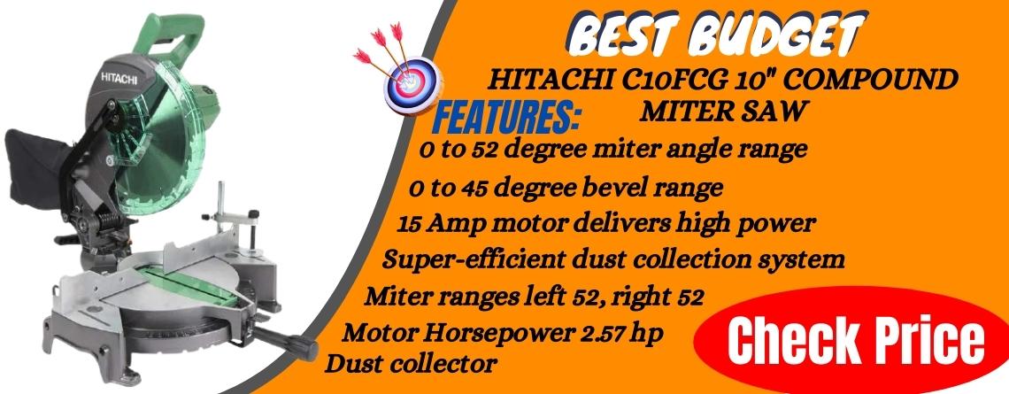 """hitachi C10FCG 10"""" sliding compound miter saw Reviews"""