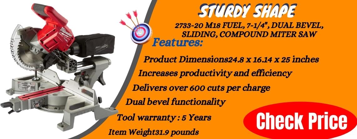 2733-20 M18 Fuel, 7-14, Dual Bevel, Sliding, Compound Miter Saw Sturdy shape