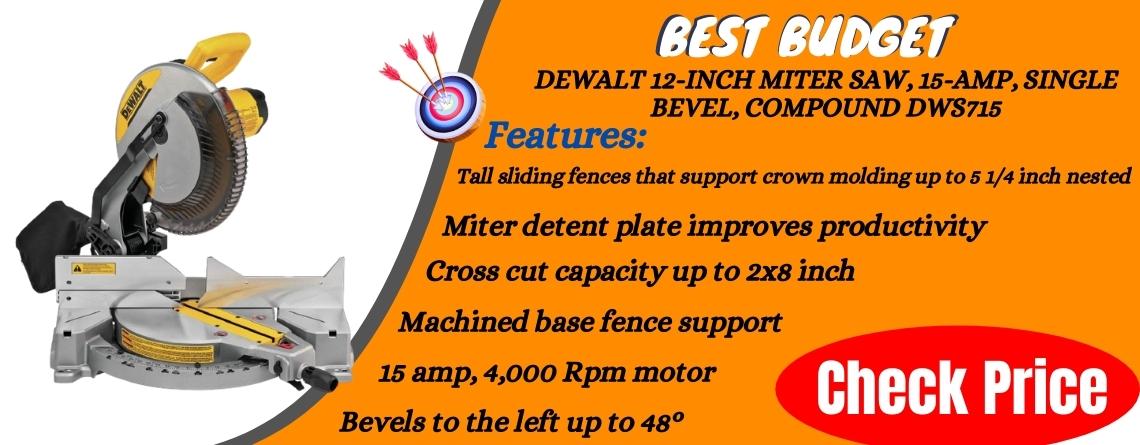 DEWALT 12-Inch Miter Saw, 15-Amp, Single Bevel, Compound DWS715 Reviews in details