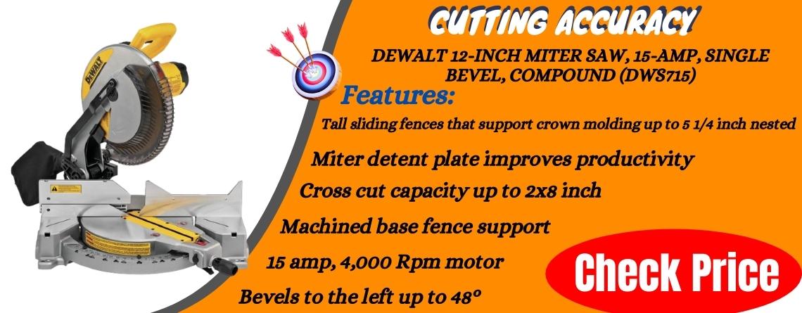 DEWALT 12-Inch Miter Saw, 15-Amp, Single Bevel, Compound (DWS715)