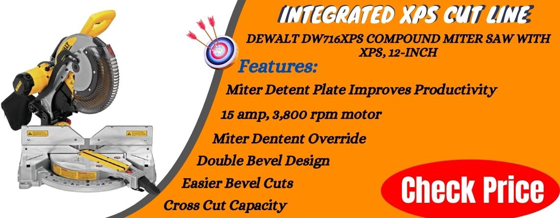 DEWALT DW716XPS Compound Miter Saw With XPS, 12-Inch