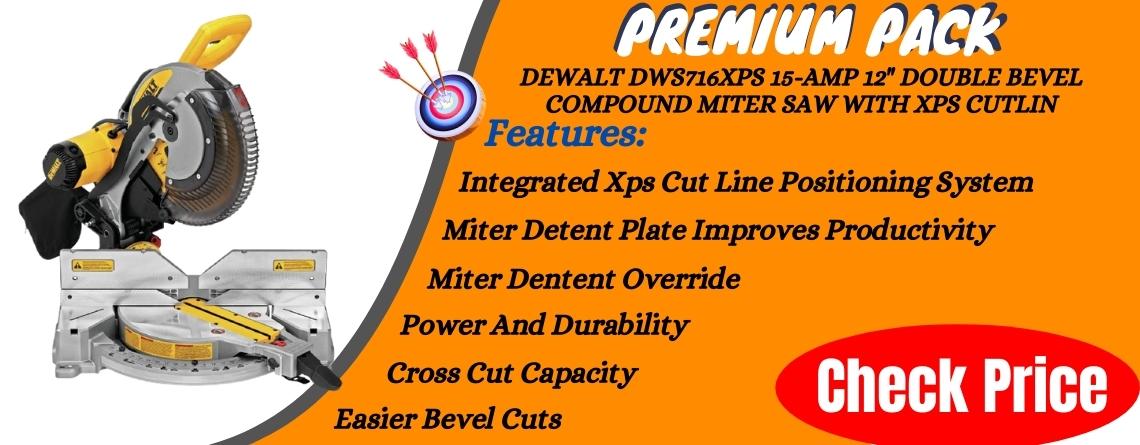 DEWALT DWS716XPS 15-Amp 12 Double Bevel Compound Miter Saw With Xps Cutline - Premium Pack