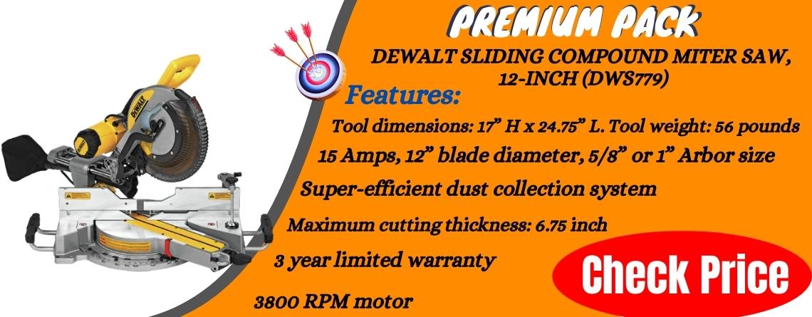 DEWALT Sliding Compound Miter Saw, 12-Inch DWS779