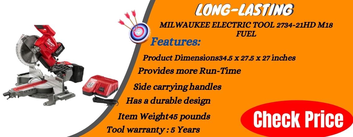 MILWAUKEE ELECTRIC TOOL 2734-21HD M18 Fuel Long-lasting