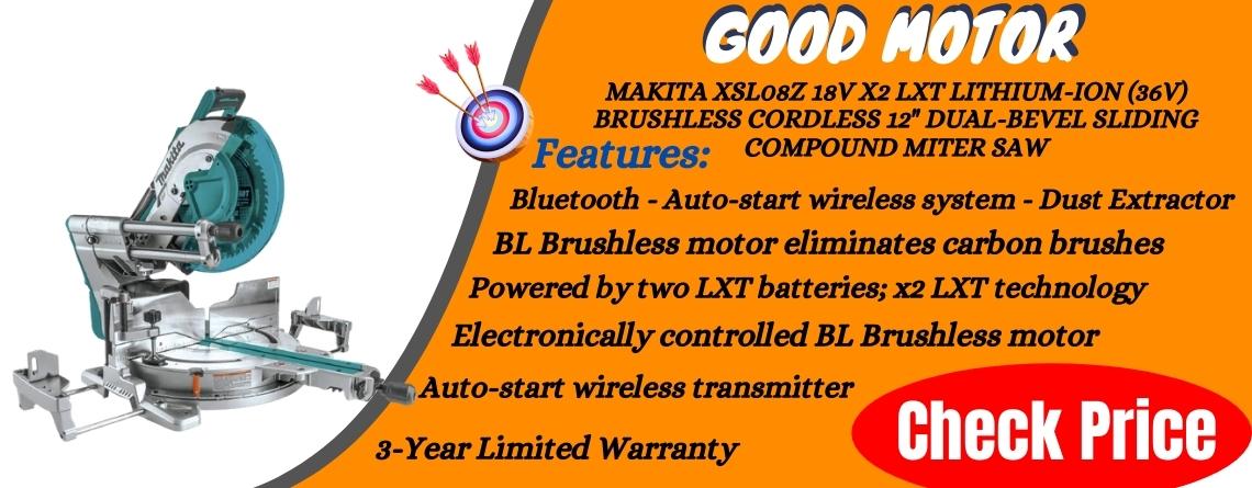 Makita XSL08Z 18V x2 LXT Lithium-Ion (36V) Brushless Cordless 12 Dual-Bevel Sliding Compound Miter Saw