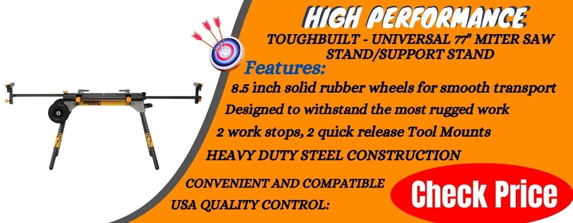 ToughBuilt - Universal 77 Miter Saw StandSupport Stand Reviews