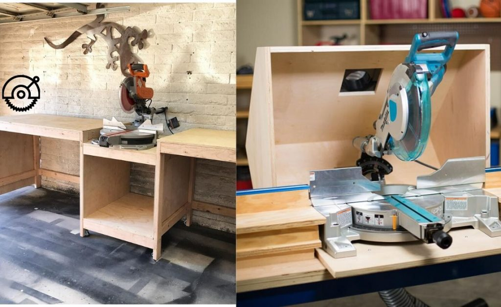 Miter Saw Stand with Fence and Hood DIY Plans